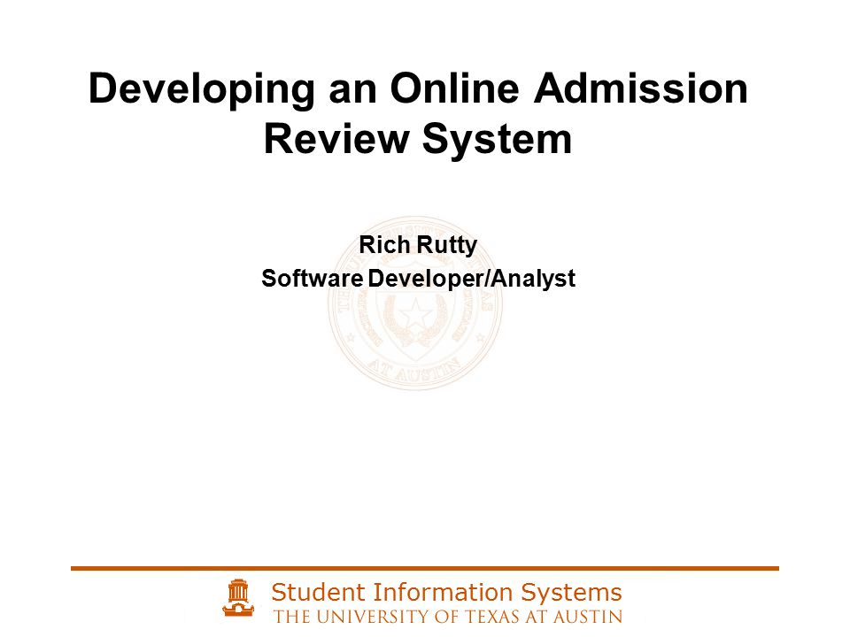 Student Information Systems Inspiration for a document reader