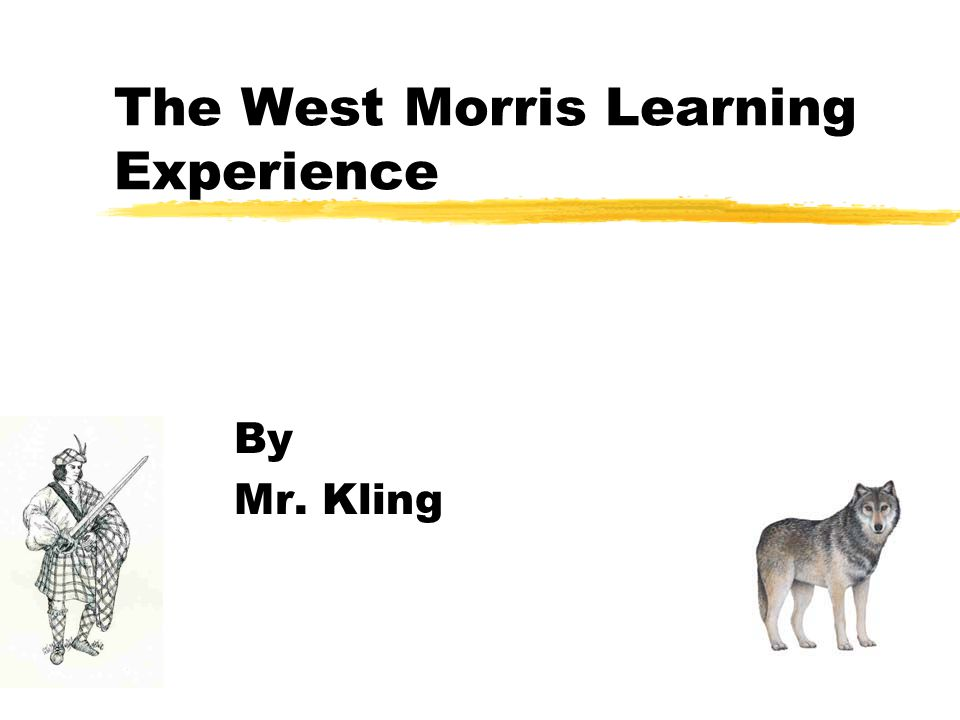 The West Morris Learning Experience By Mr. Kling