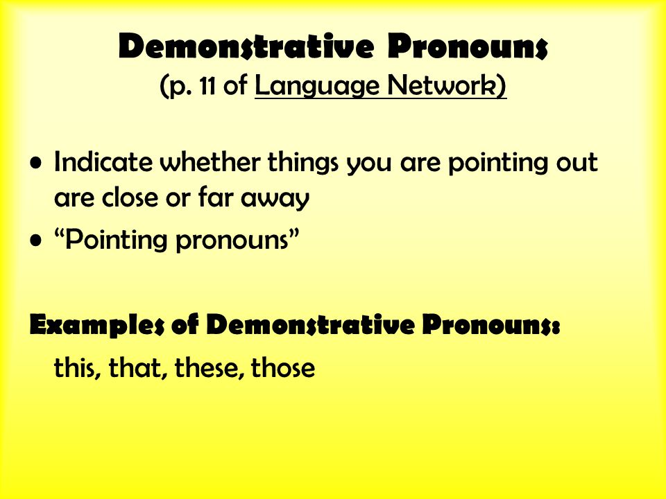 Demonstrative Pronouns (p.