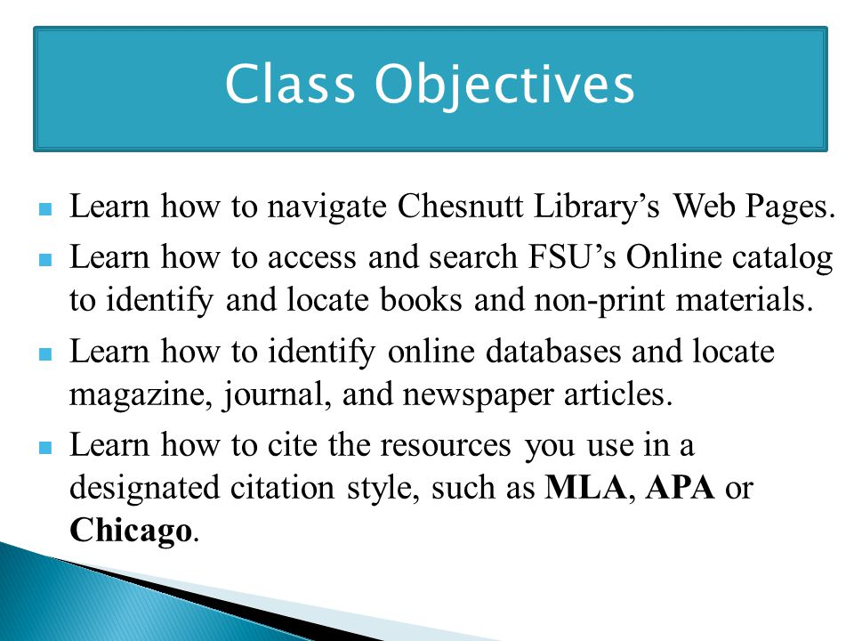 Learn how to navigate Chesnutt Library's Web Pages.