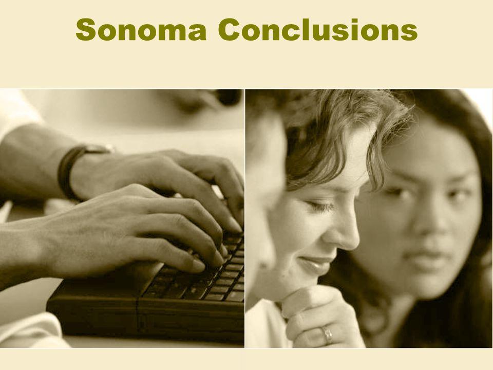 Sonoma Conclusions
