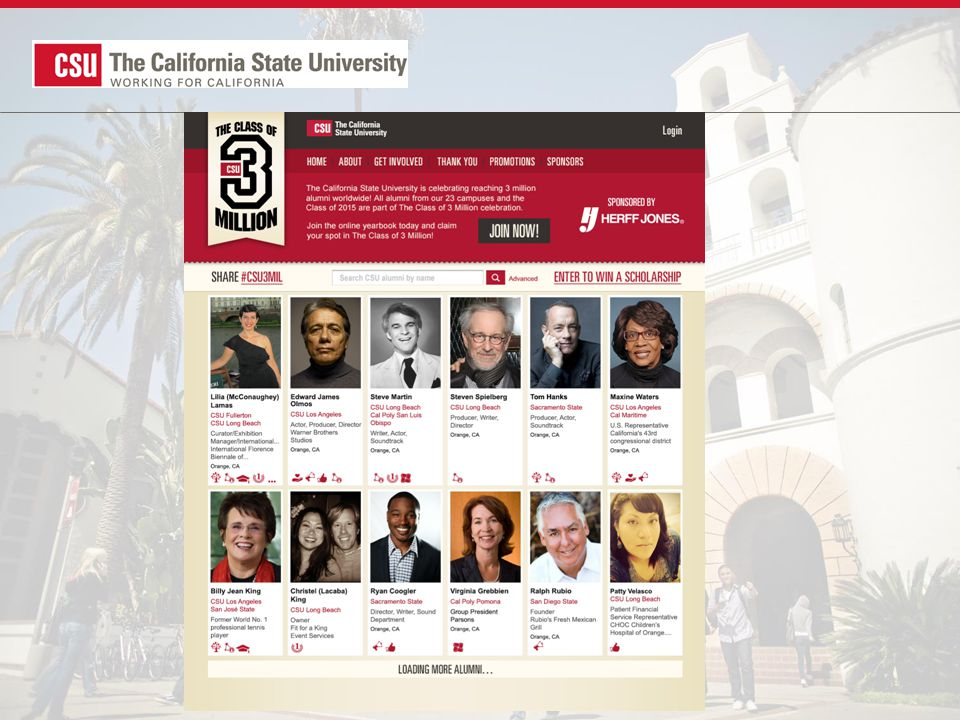 New site launched in January 2014 Statewide outreach tool Extensive planning tools Free test preparation Apply directly to CSU Lesson plans available Electronic HS transcripts* CaliforniaColleges.edu *4 pilot school districts in 2014-15