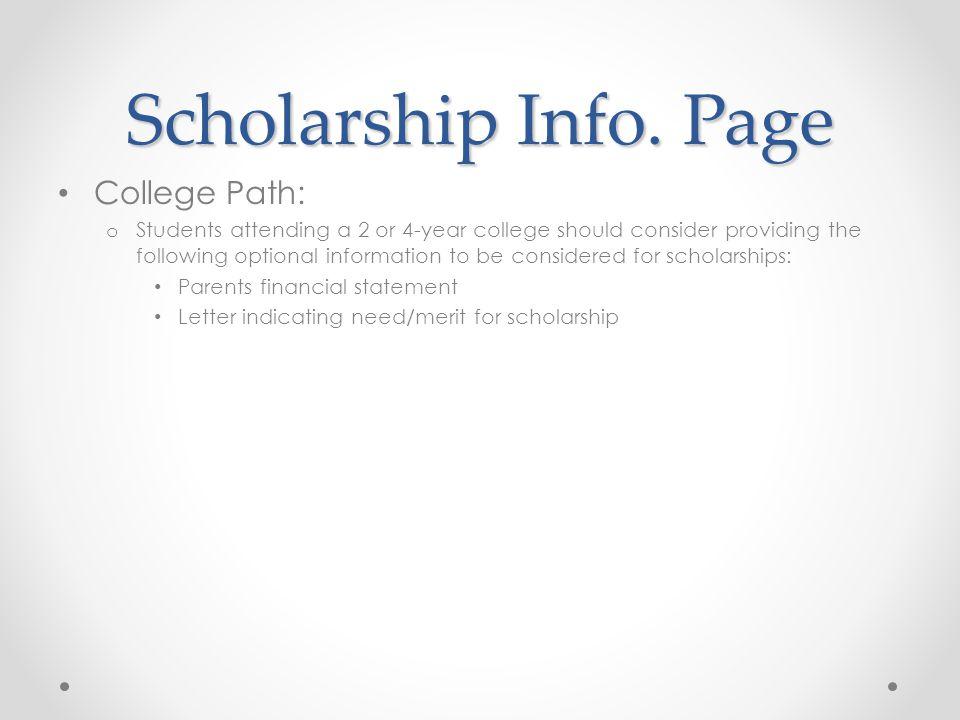 Scholarship Info.