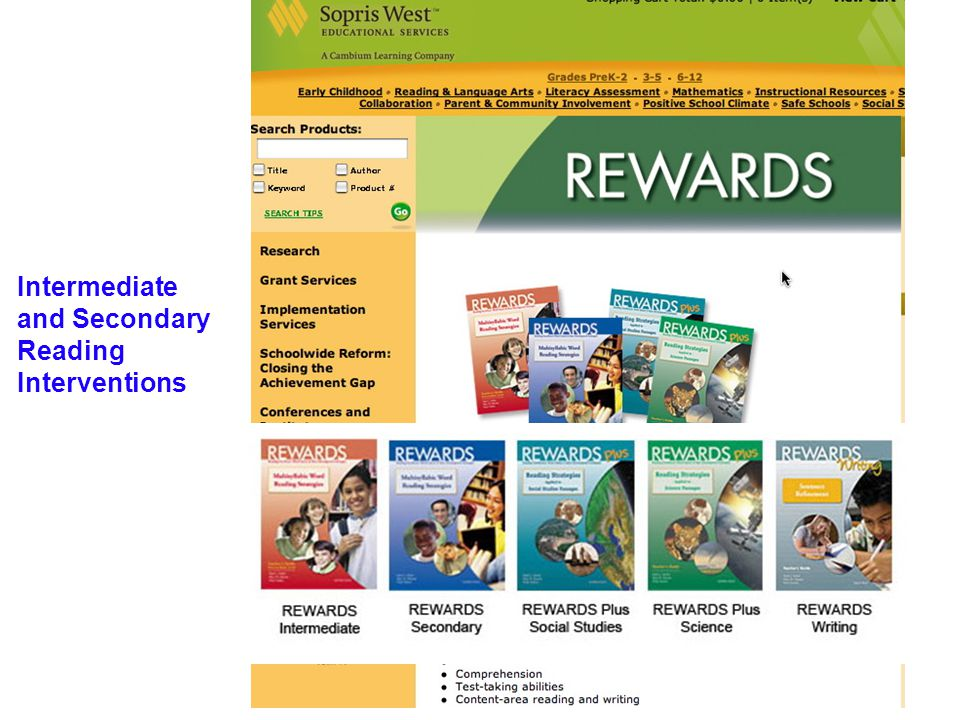 Program Options Tier 1: Pre-teaching Key Vocabulary Tier 2: Co-taught English/Reading Block with REWARDS Co-taught Course on before, during, and after reading strategies with a focus on content-area text Tier 3: Social Opportunities Academic Readiness(SOAR): Includes Language!; Social Language Skills; Vocational Opportunities; Post-Secondary Exploration