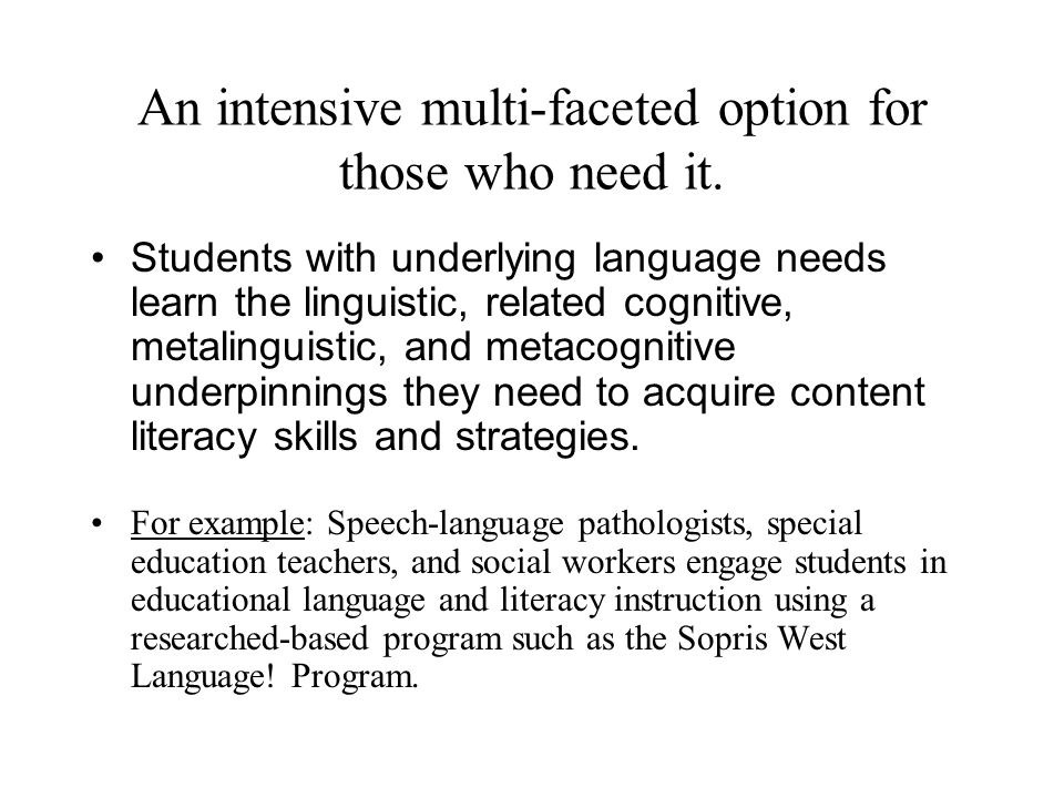 How will basic literacy skill instruction be provided.