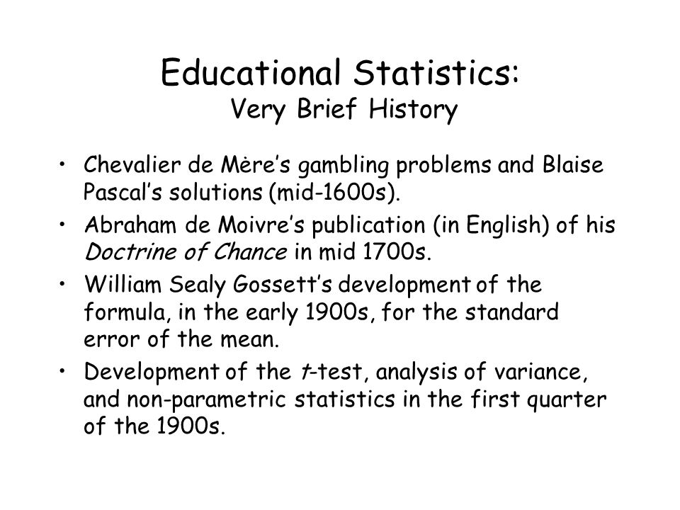 Educational Statistics: Statistical Terms and Vocabulary Internal vs External Validity Internal validity: concerned with whether the methods and procedures used in a study warrant the conclusions drawn from the study.