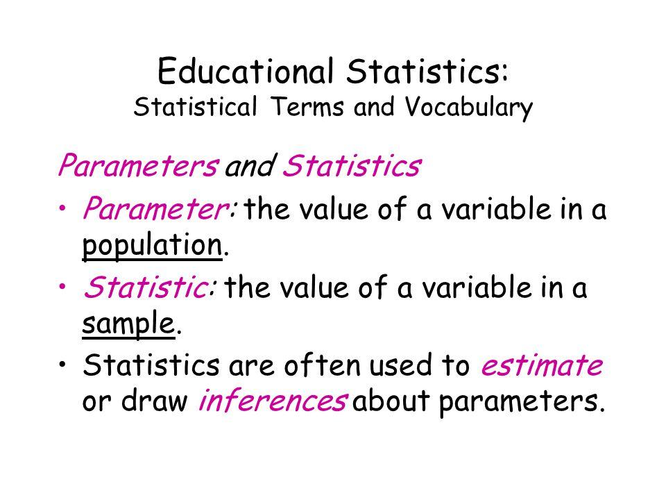 Educational Statistics: Measurement Another tool of [quantitative] research.