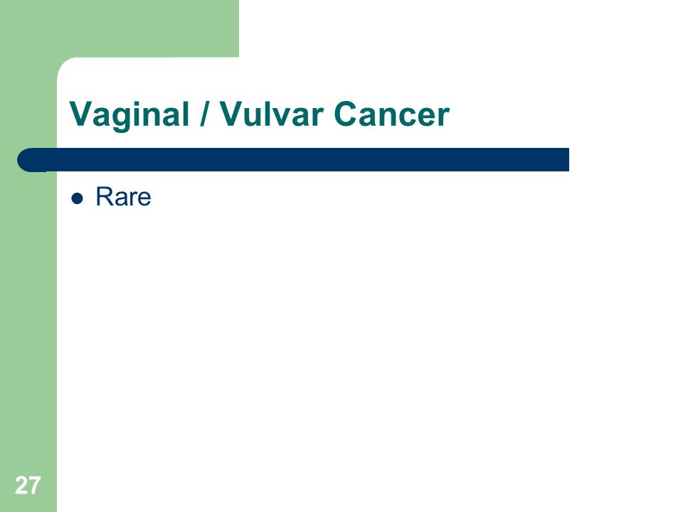 Vaginal / Vulvar Cancer Rare 27