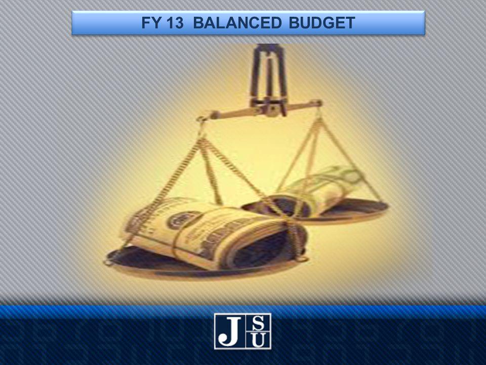 FY 13 BALANCED BUDGET