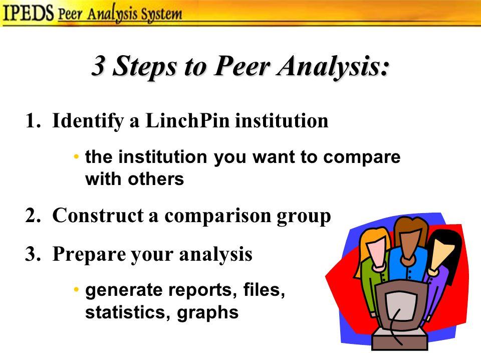 3 Steps to Peer Analysis: 1.