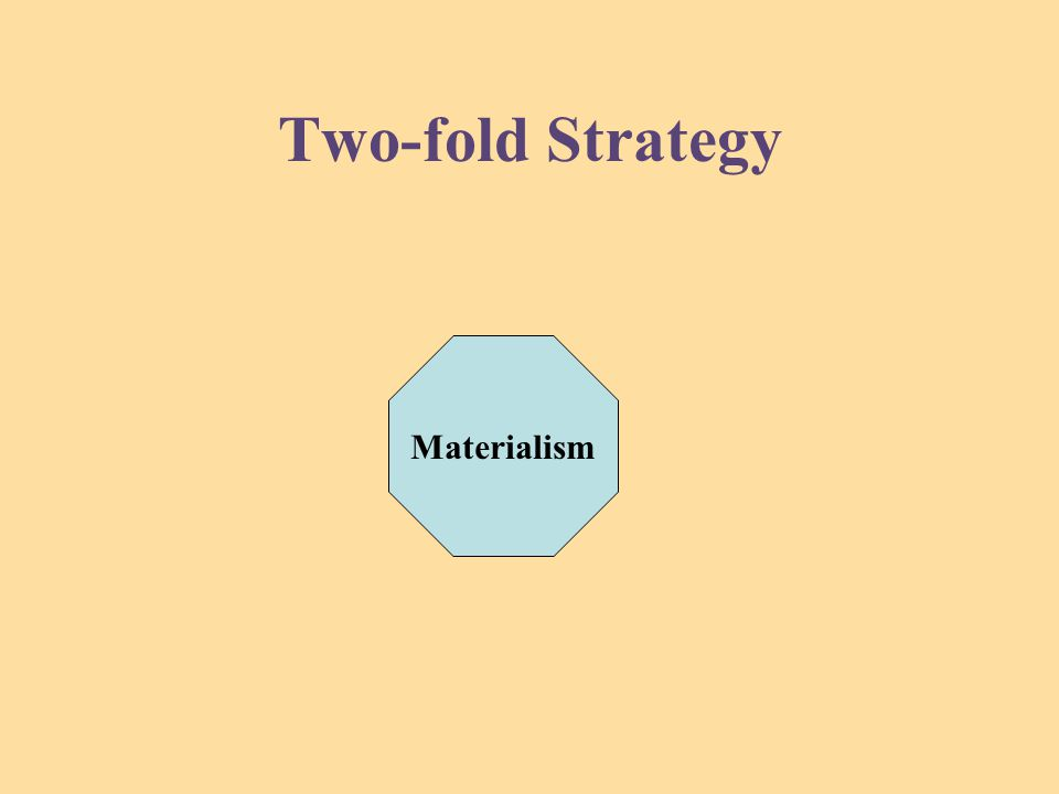Two-fold Strategy Materialism