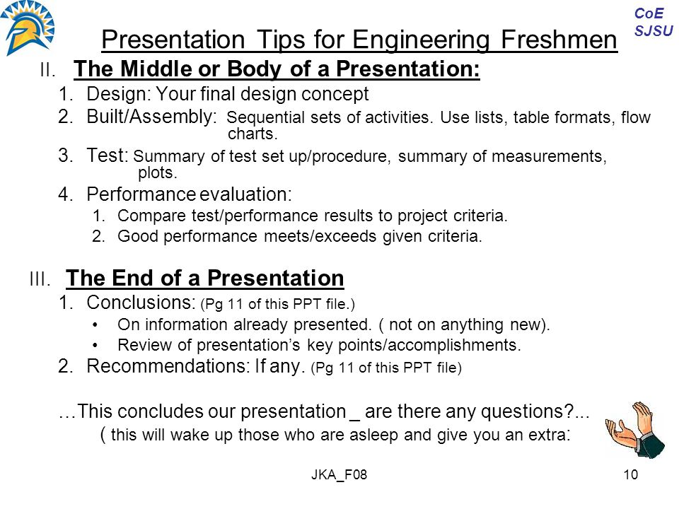JKA_F0810 Presentation Tips for Engineering Freshmen II.