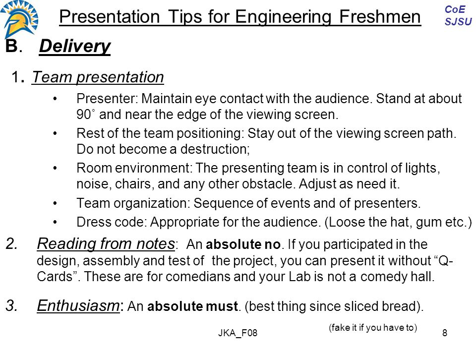 JKA_F088 Presentation Tips for Engineering Freshmen B.