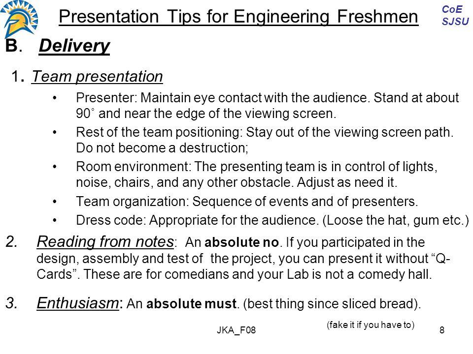 JKA_F089 Presentation Tips for Engineering Freshmen C.