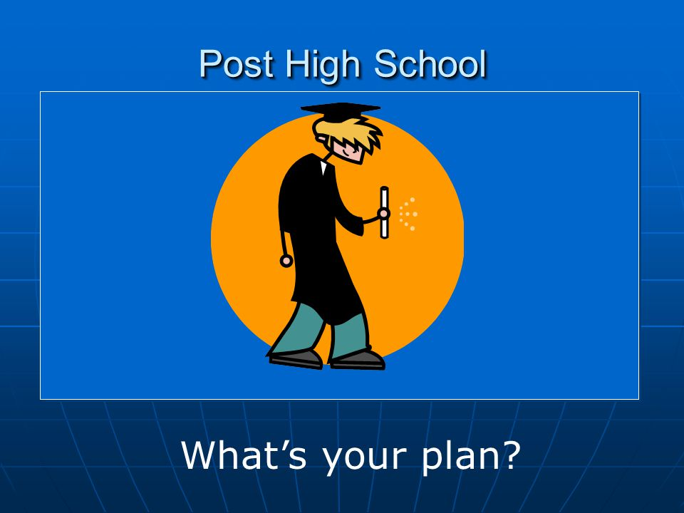 Post High School What's your plan?