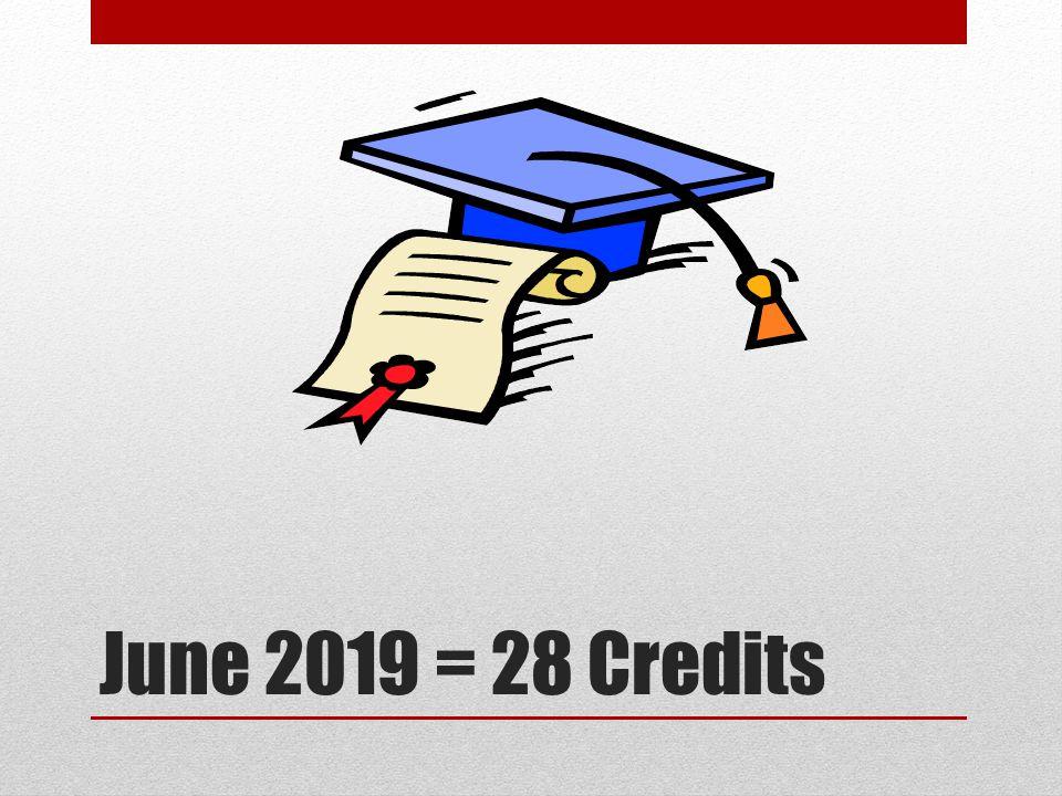June 2019 = 28 Credits