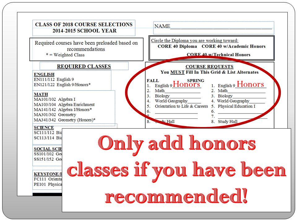 HonorsHonors