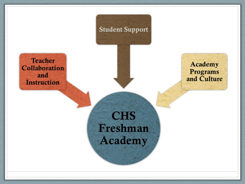 Chelsea High School Freshman Academy Year 1: Focus on students and program development Year 2: Began shifting the focus to instruction