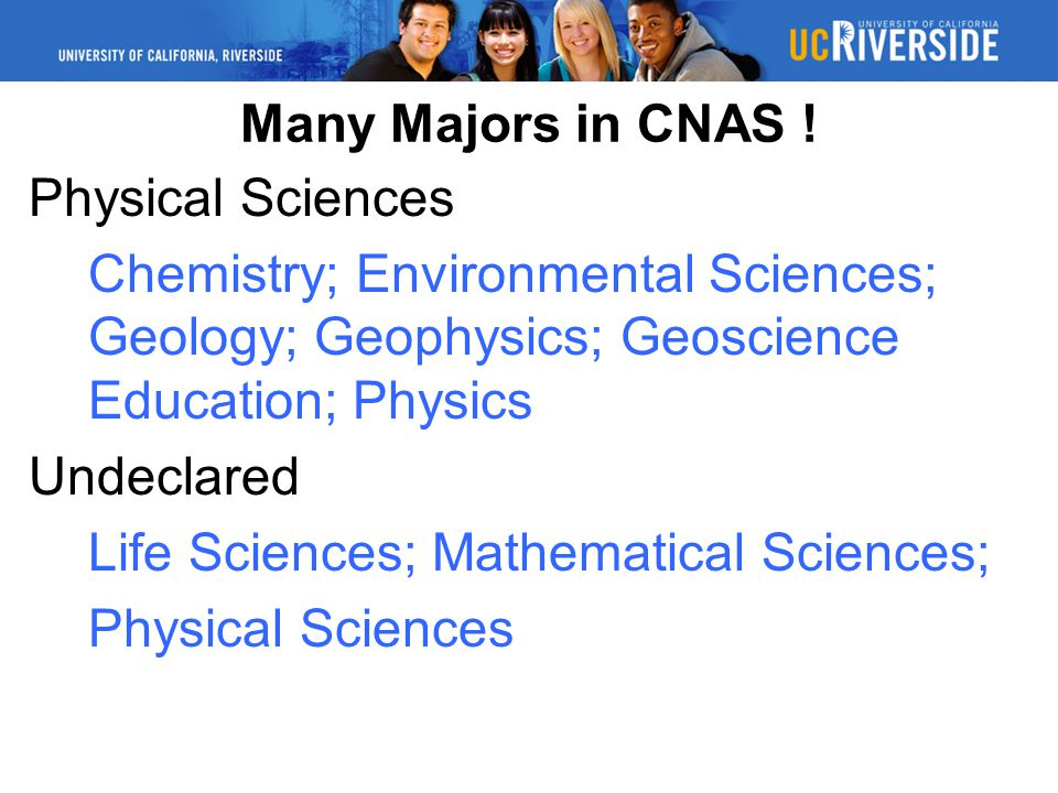 Many Majors in CNAS .