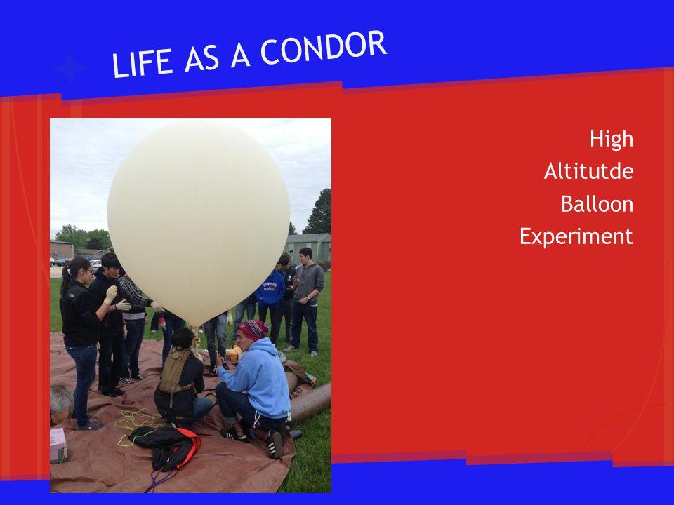 LIFE AS A CONDOR High Altitutde Balloon Experiment