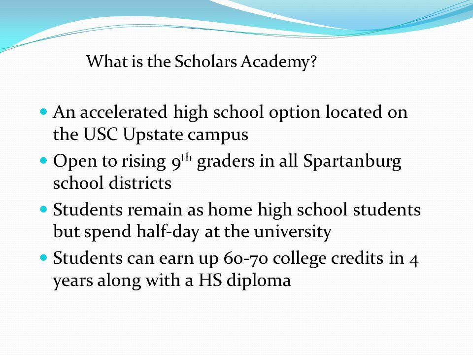 What is the Scholars Academy.
