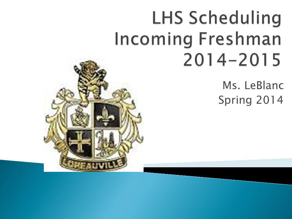 Ms. LeBlanc Spring 2014