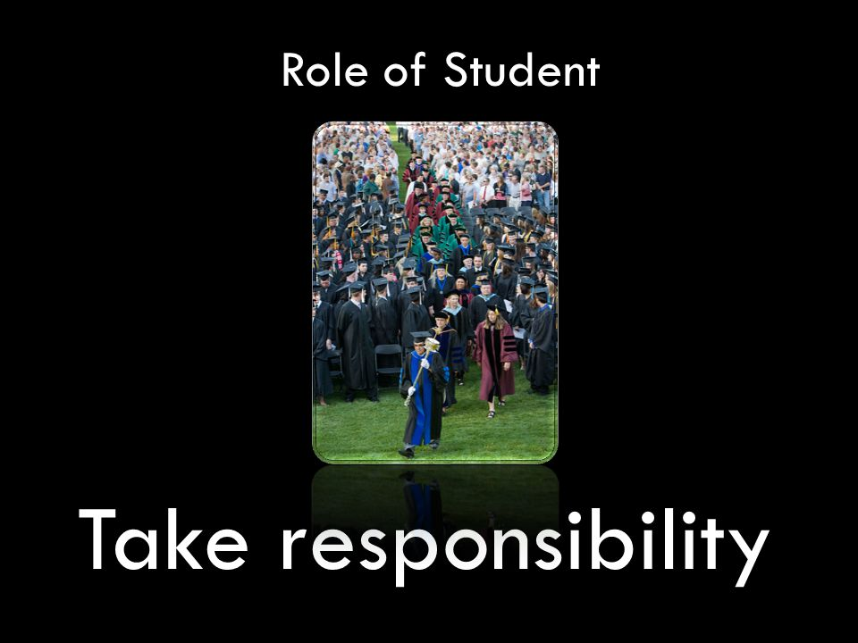 Role of Student Take responsibility