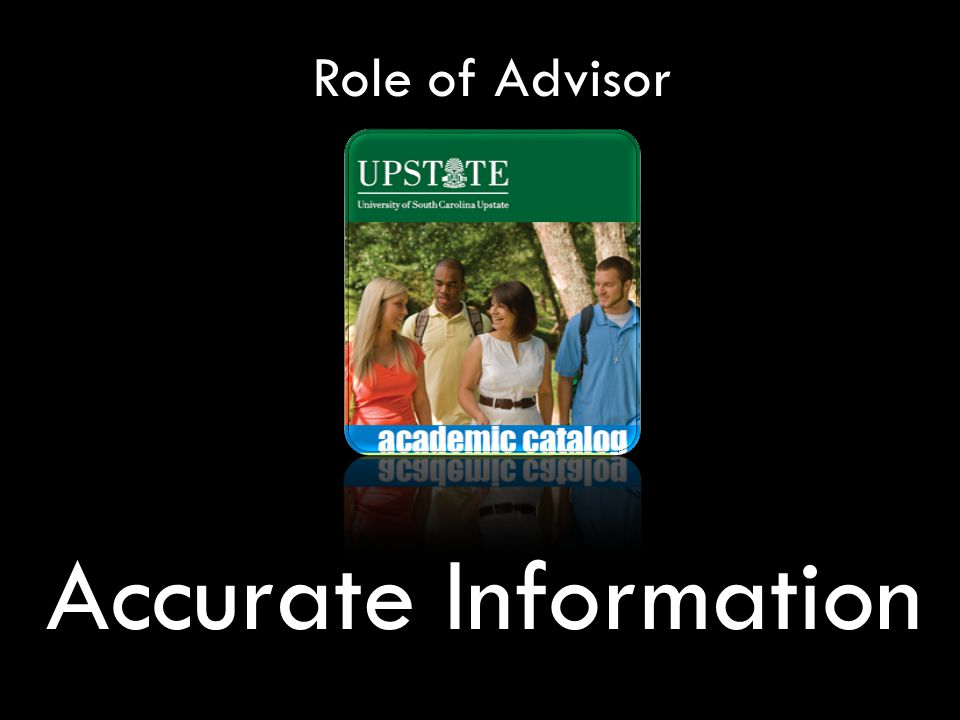Role of Advisor Accurate Information