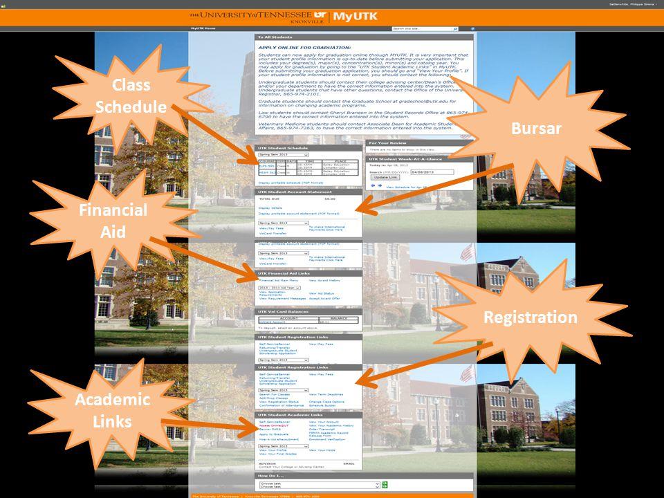 Bursar Registration Financial Aid Class Schedule Academic Links