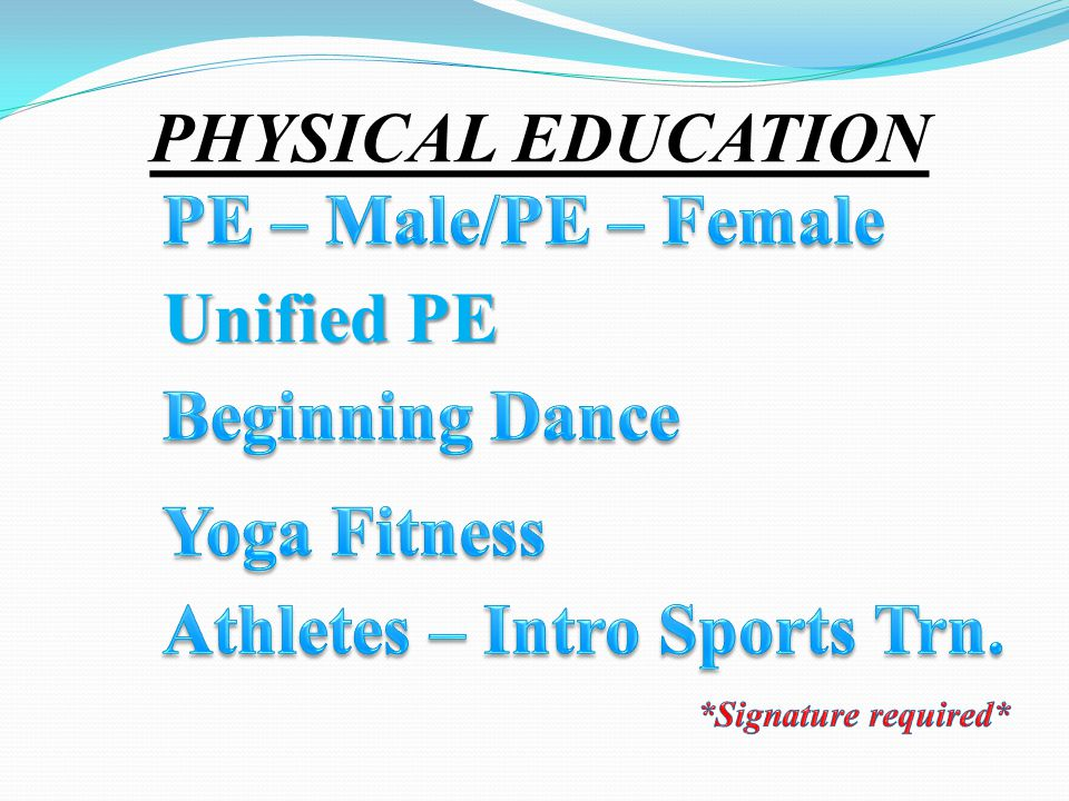PHYSICAL EDUCATION Unified PE
