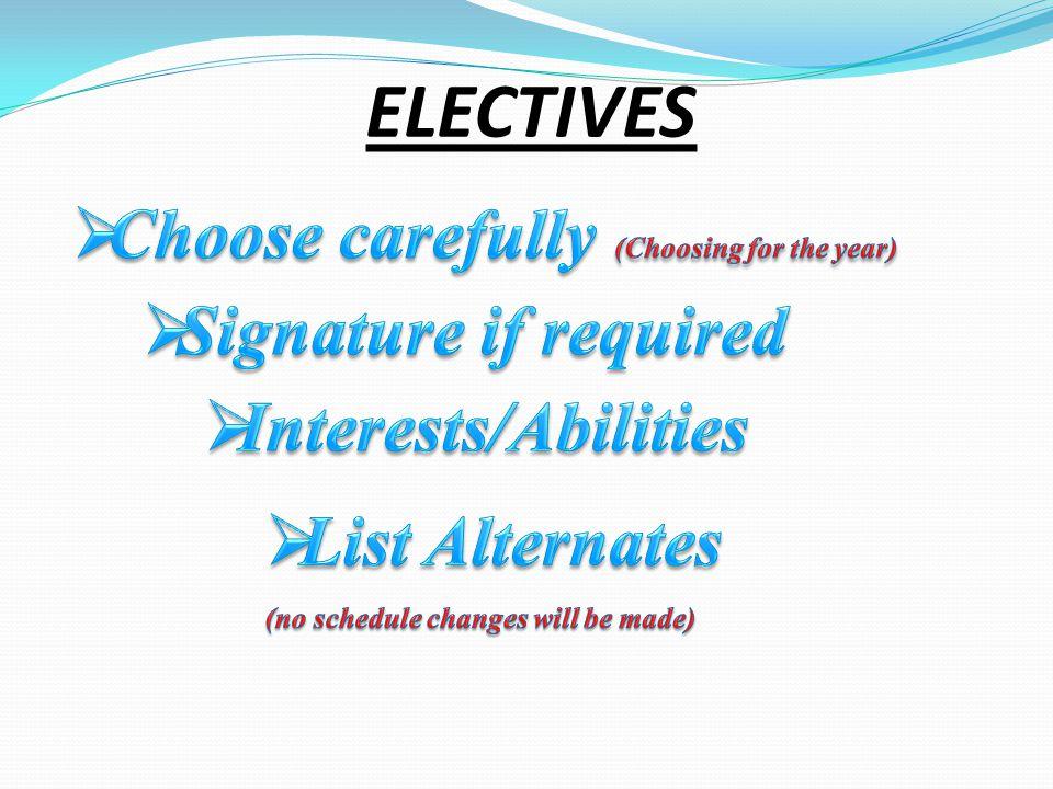 ELECTIVES