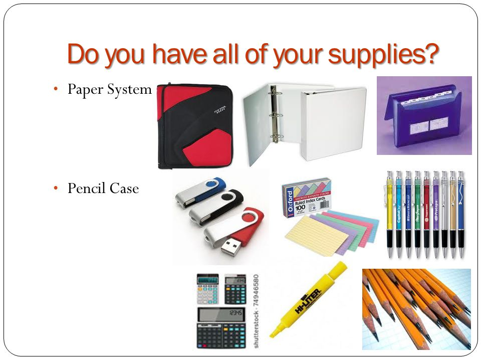 Do you have all of your supplies Paper System Pencil Case