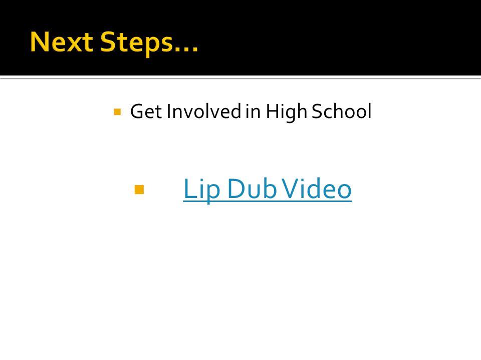  Get Involved in High School  Lip Dub VideoLip Dub Video