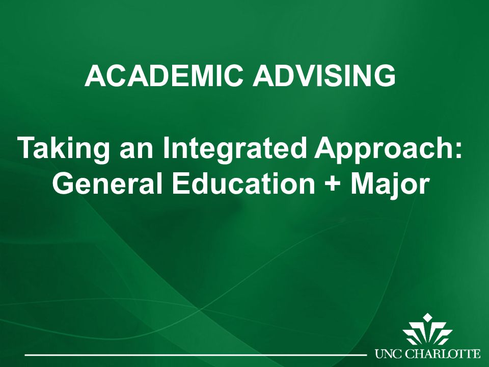 ACADEMIC ADVISING: AN INTEGRATED APPROACH GM EDUCATION NJ EO REQuIREMENTS A L