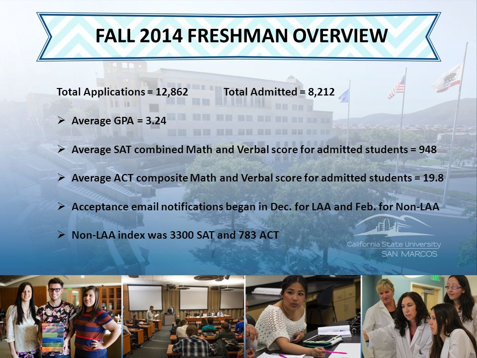 FALL 2014 TRANSFER OVERVIEW  Total Applicants = 7805  Total Admitted = 2618  Average GPA = 2.85  Non-local admissions area students could not be accommodated for fall 2014  Preliminary Undergraduate Enrollment Numbers = 11,620
