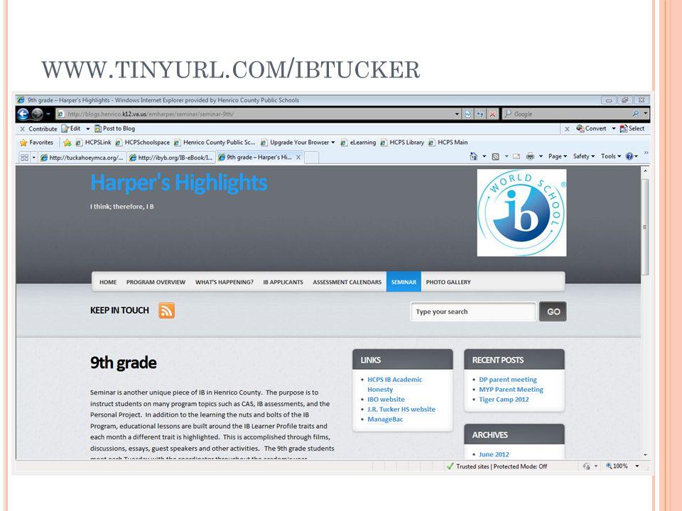 WWW. TINYURL. COM / IBTUCKER