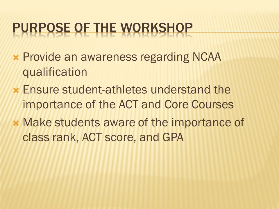  The NCAA, or National Collegiate Athletic Association, was established in 1906 and serves as the collegiate governing body for over 1,300 colleges and universities