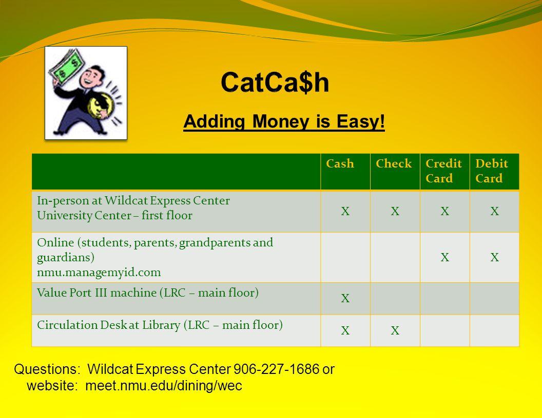 Adding Money is Easy.