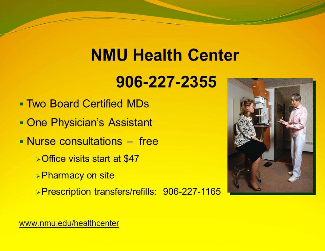 906-227-2355  Two Board Certified MDs  One Physician's Assistant  Nurse consultations – free  Office visits start at $47  Pharmacy on site  Pres