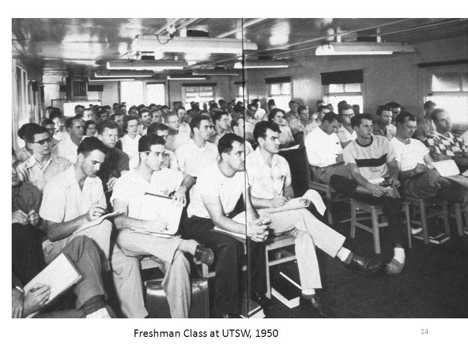14 Freshman Class at UTSW, 1950