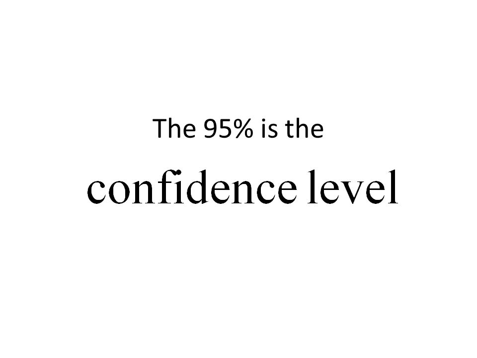 The 95% is the