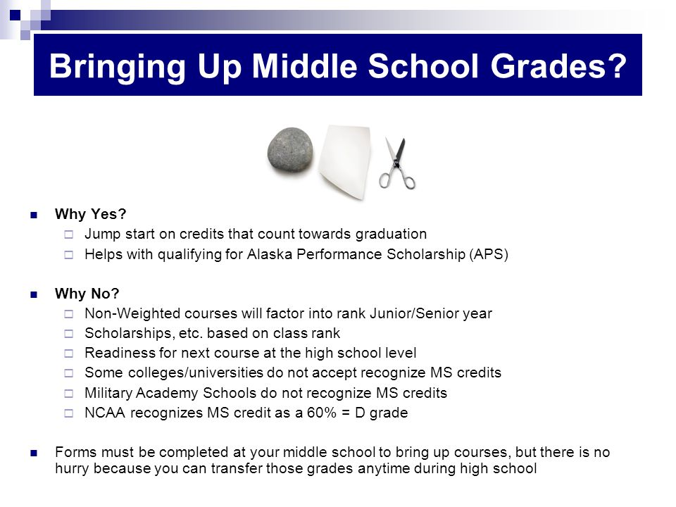 Bringing Up Middle School Grades. Why Yes.