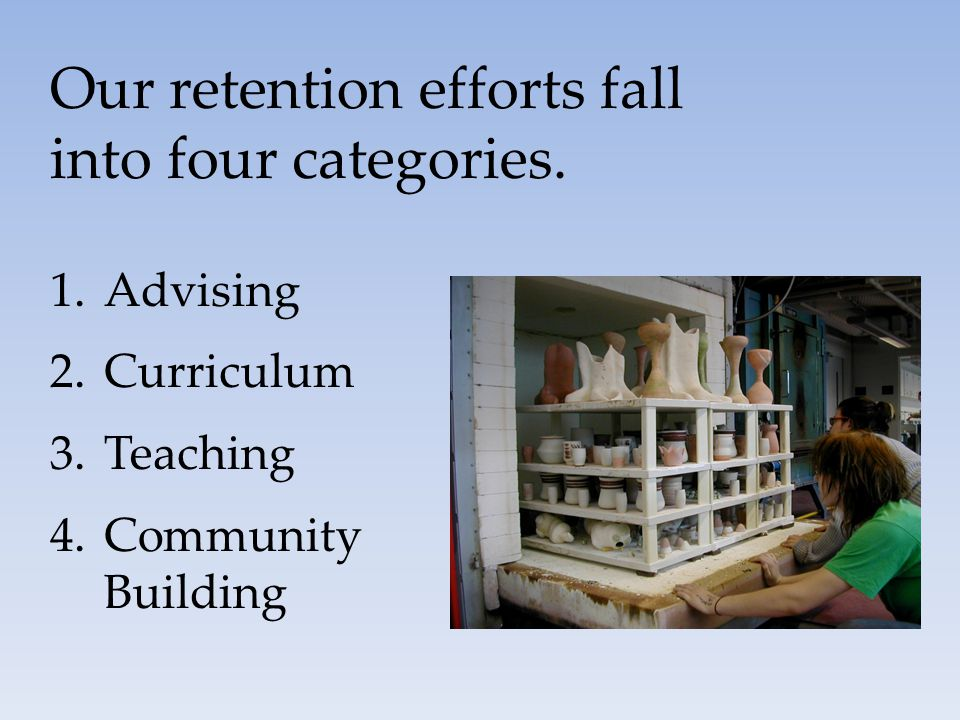 Our retention efforts fall into four categories.