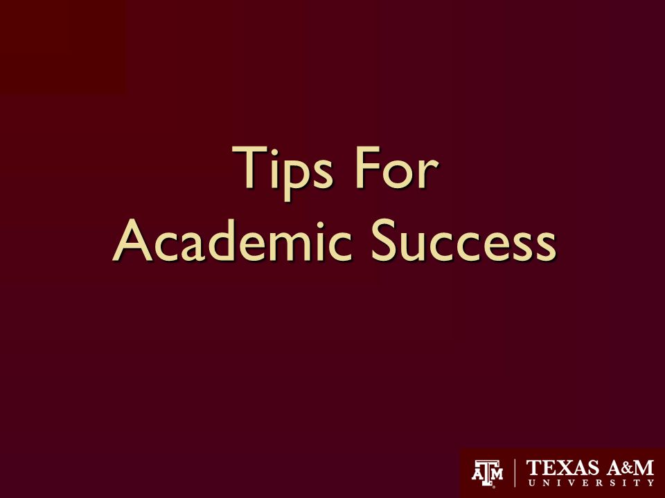 Tips For Academic Success 23