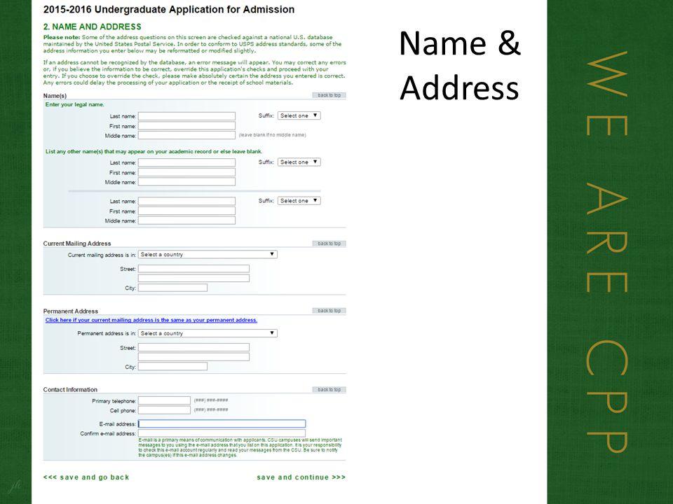 Name & Address