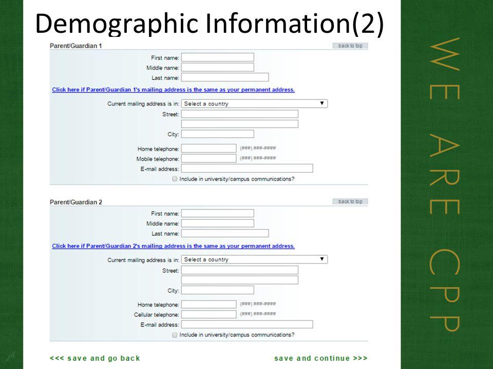 Demographic Information(2)