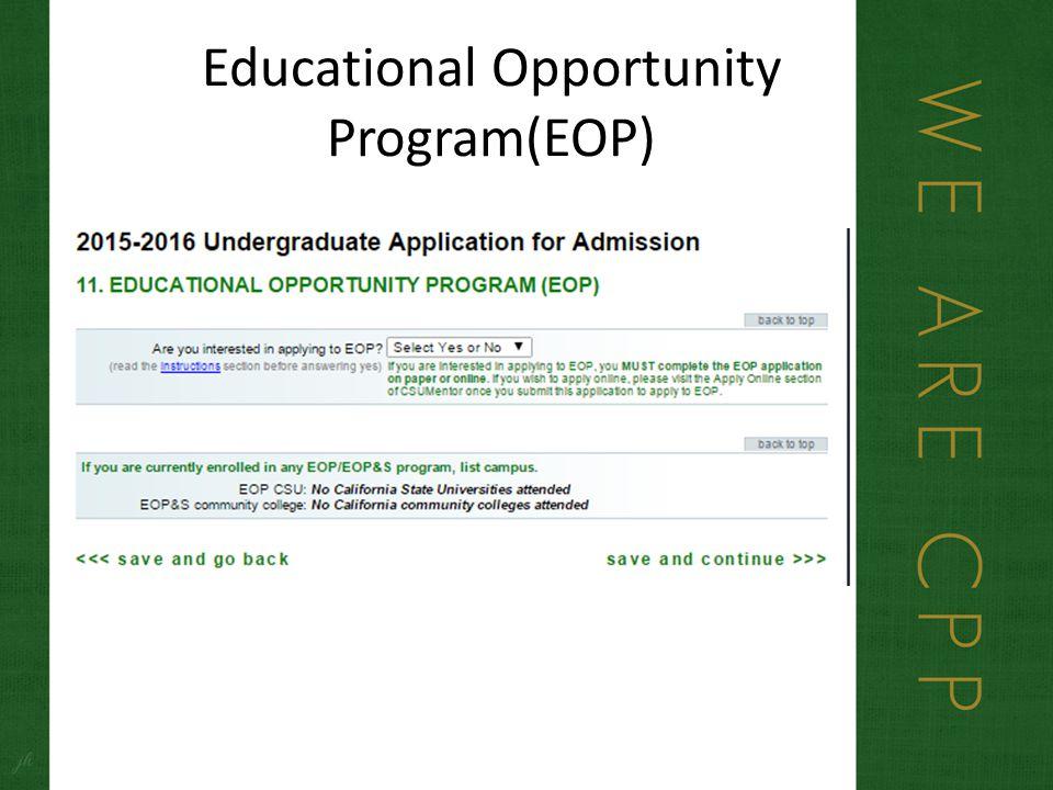 Educational Opportunity Program(EOP)