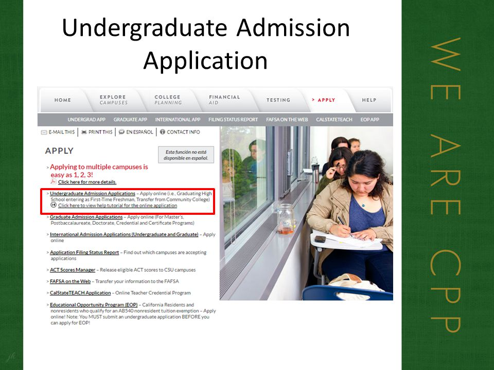 cal poly pomona application essay Both undergraduate and graduate students are considered for scholarships how to apply cal poly does not require a scholarship application for incoming students.