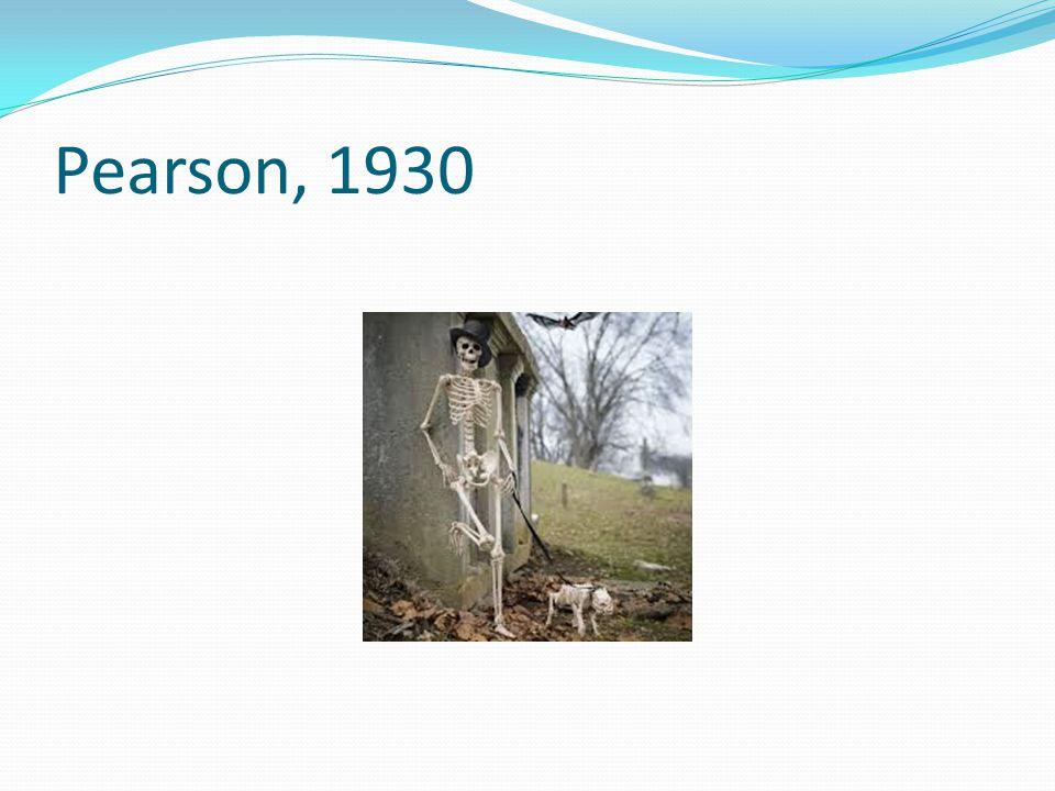Pearson, 1930