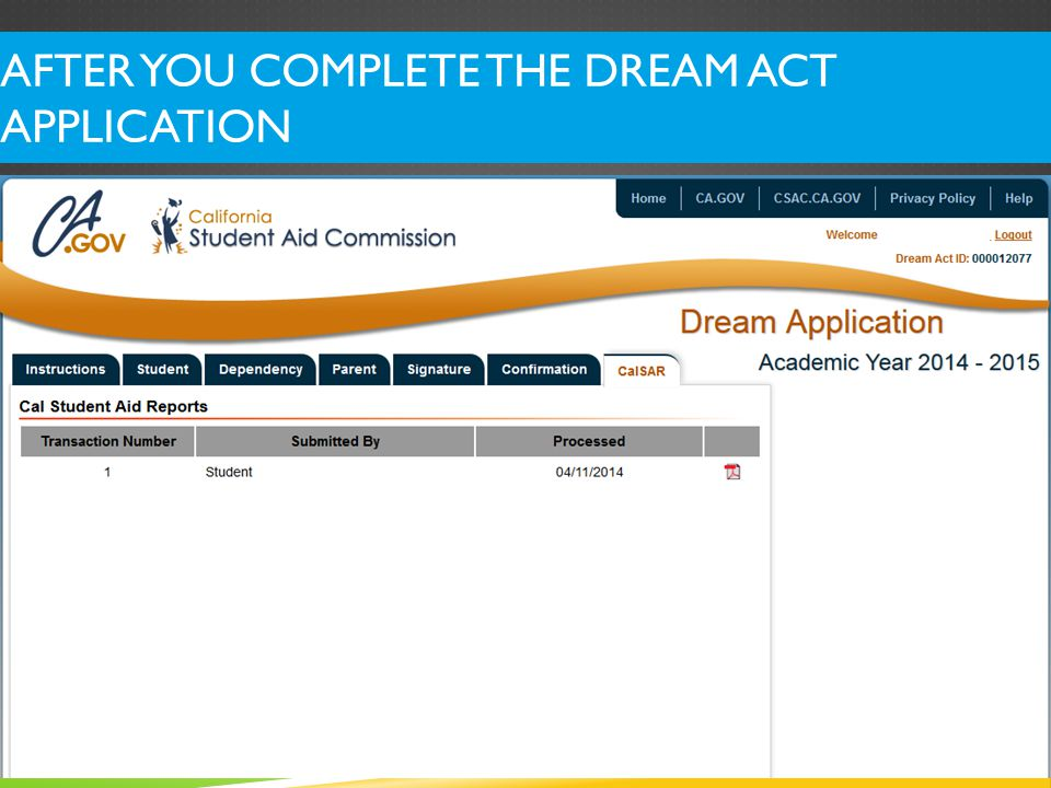 Dream ID# is here